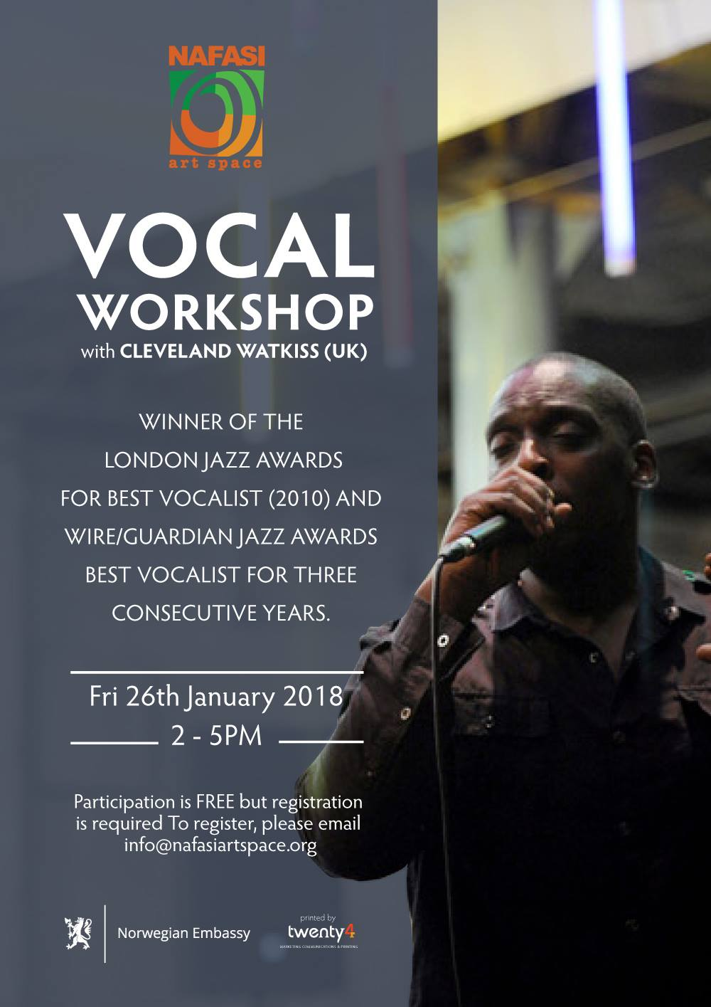 Vocal Workshop w/ Cleveland Watkiss