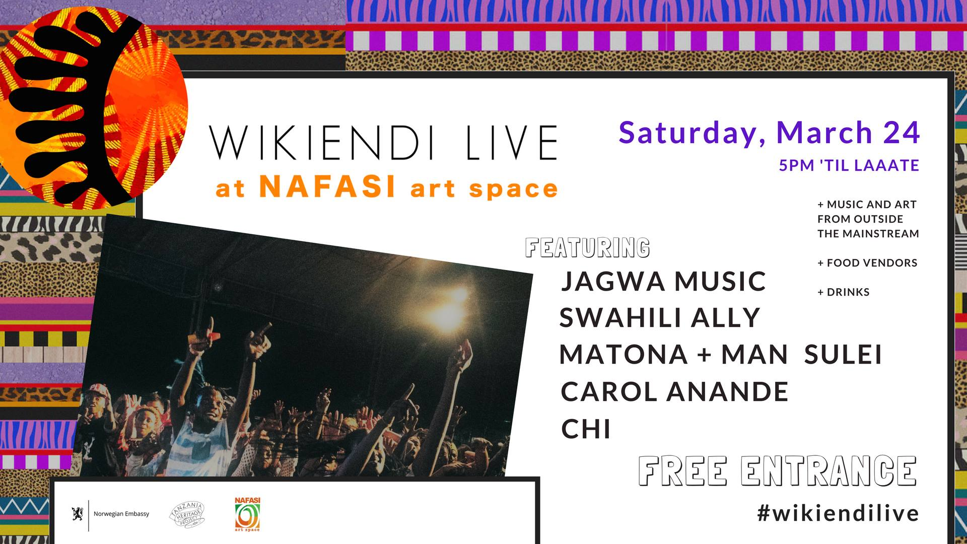 Wikiendi LIVE ft  Jagwa, Swahili Ally, Matona + MORE
