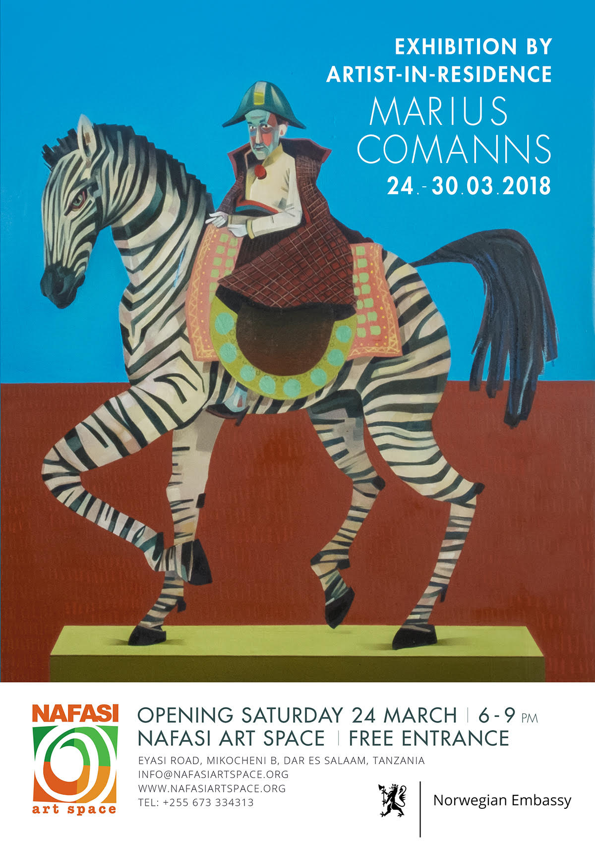 Poster Marius Comanns Artist in Residence Exhibition at Nafasi Art Space
