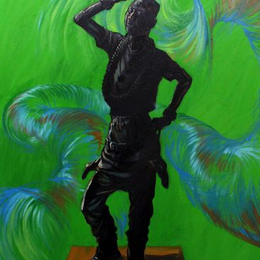 Cloud Chatanda Fake Life Oil On Canvas 100cm x 112cm