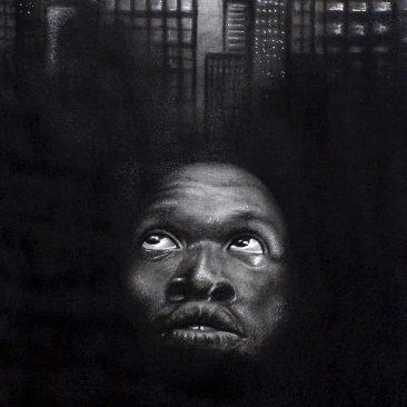 Steven Mchomvu My Dream Charcoal On Canvas 60cm x 80cm Tsh 1,200,000