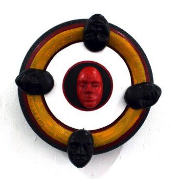 Aljosja Roels Resurrection Rubber,Wax,Wood,Acrylics 50cm to Diameter TZS 600,000