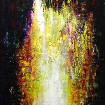 Nimrod Hanai Transformation Oil On Canvas 90cm x 60cm