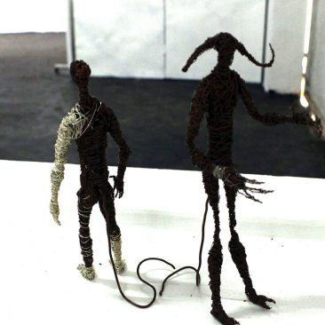 Wendo Unayo_ 1 and 2 Copper Wire and Sculpture 22cm x 12cm TZS 100,000