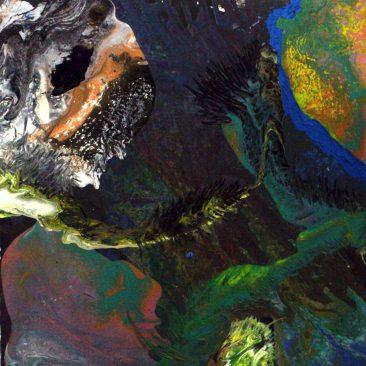 Daniel Clarke War Of The Worlds Acrylic On Canvas 60cm x 60cm Donation