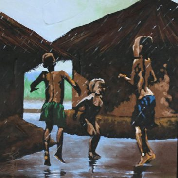 Local Fanatics 'Childhood Memories' 65 x 55cm Acrylic On Canvas USD 300