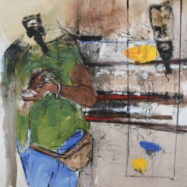 BUTCHECA Espelo (mirror) Acrylic on canvas 131cm-180cm USD 700