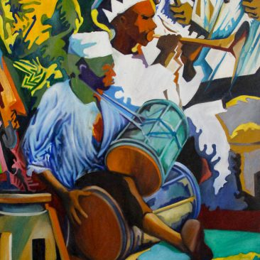 Mac Sawaya Goma Acrylic on canvas 75 x 100 cm Price on request