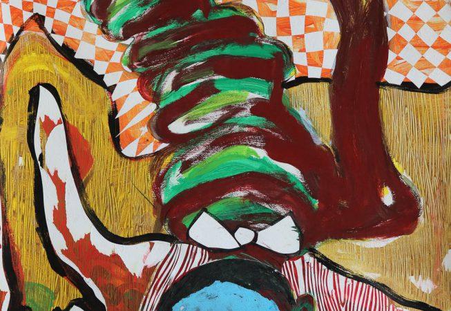 OPTION Chamupupuri Mixed media on canvas _ paper 64cm- 91cm PRICE ON REQUEST