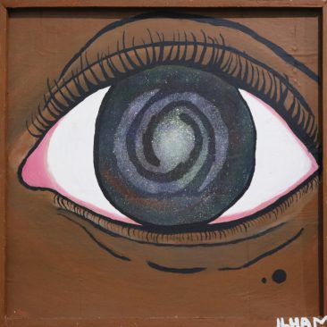 ARTSY FOOL the galaxy eye mixed media 55,000 TZS