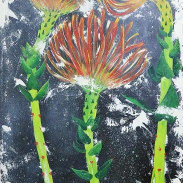 LIBERATUS CASSIANO KAEGELE frozen love Acrylic on canvas PRICE ON REQUEST