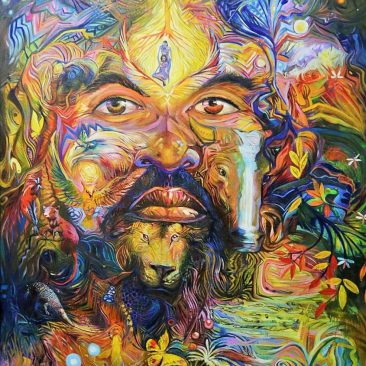 PAUL NDUGURU the source Acrylic on canvas PRICE ON REQUEST