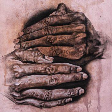 GEORGE NJENGA These Walls 2, 2019 Charcoal on paper 460.000 TSH