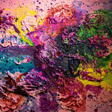 KOLA Everyone needs peace of mind Acrylic on canvas 90 x 60cm 250 USD
