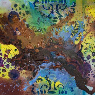KOLA The best of mould (creation) Acrylic on canvas 90 x 60cm 250 USD