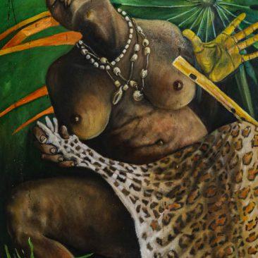 MAC SAWAYA Taharuki ya Mshtuko Convering the Shock, 2019 Acrylic on canvas Price on request