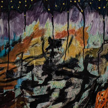 MUNEZERO J.M. VIANNEY Alone, 2019 Mixed media with acrylic on canvas 700 USD