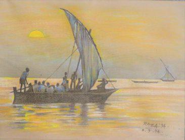 Raza Dawn Watercolor on paper 42 x 53cm 300USD