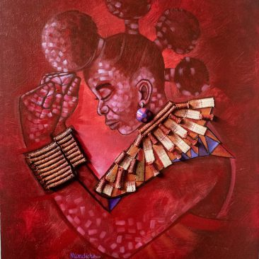 Women in power mixed media 75 x 90cm 2020 George Emmanuel